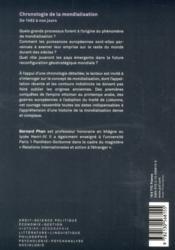 Chronologie de la mondialisation - 4ème de couverture - Format classique
