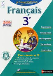 Je Comprends Tout! T.18 ; Français ; 3e - Couverture - Format classique