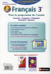 Je Comprends Tout! T.18 ; Français ; 3e - 4ème de couverture - Format classique