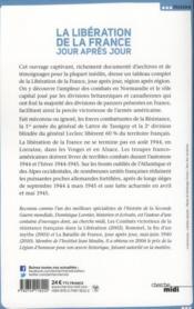La libération de la France ; jour après jour ; juin 1944-mai 1945 - 4ème de couverture - Format classique