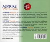 Aspirire vitaminée ; coffret - 4ème de couverture - Format classique
