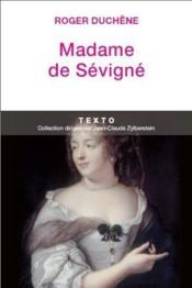 Madame de Sévigné - Couverture - Format classique