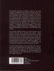 La maison cinéma et le monde t.3 ; les années lLibé 2 (1986-1991) - 4ème de couverture - Format classique