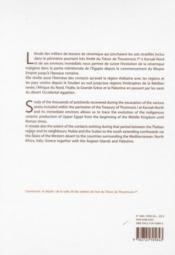 Karnak-Nord X ; le trésor de Thoutmosis Ier ; la céramique - 4ème de couverture - Format classique