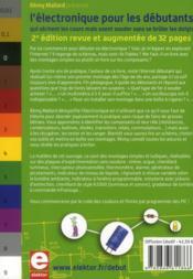 L'électronique pour les débutants qui sèchent les cours ; mais soudent sans se brûler les doigts (2e édition) - 4ème de couverture - Format classique