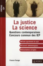 Vente  La justice, la science  - France Farago