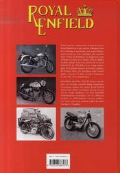 Royal enfield - 4ème de couverture - Format classique