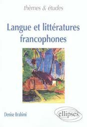 Langue Et Litteratures Francophones - Intérieur - Format classique