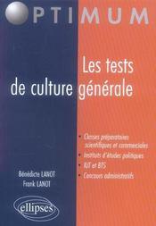 Les Tests De Culture Generale - Intérieur - Format classique