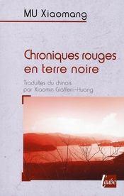 Chroniques Rouges En Terre Noire - Intérieur - Format classique