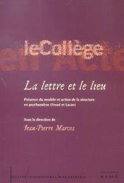 Lettre Et Le Lieu (La) - Intérieur - Format classique