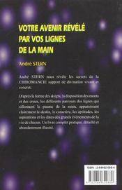 Votre Avenir Revele Par Vos Lignes De La Main - 4ème de couverture - Format classique