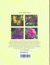 100 Decors - 4ème de couverture - Format classique