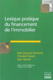 Lexique pratique du financement de l'immobilier - Intérieur - Format classique