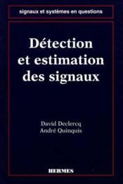 Detection et estimation des signaux - Couverture - Format classique