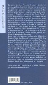 Histoire, critique et responsabilite - 4ème de couverture - Format classique