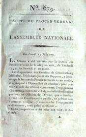 Assemblee Nationale N°679 du 13/06/1791 - Couverture - Format classique