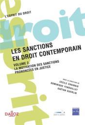 Les sanctions en droit contemporain - Couverture - Format classique