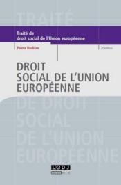 Droit social de l'Union europeenne (2e edition) - Couverture - Format classique