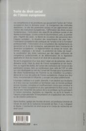Droit social de l'Union europeenne (2e edition) - 4ème de couverture - Format classique