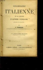Grammaire Italienne En 25 Lecons D'Apres Vergani - Couverture - Format classique