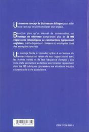 L'Anglais De La Vie Quotidienne Les Mots En Action 2e Edition - 4ème de couverture - Format classique