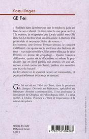 Coquillages - 4ème de couverture - Format classique