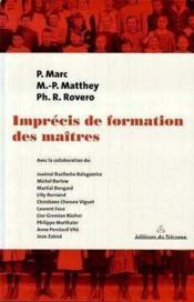 Imprecis De Formation Des Maitres - Couverture - Format classique