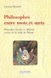 Philosophes Entre Mots Et Mets - Intérieur - Format classique