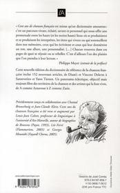 Cent ans de chanson francaise (1905-2005) - 4ème de couverture - Format classique