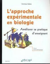 L'approche expérimentale en biologie - Intérieur - Format classique