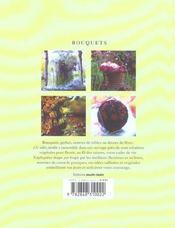 Bouquets Et Creations Vegetales - 4ème de couverture - Format classique