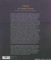 L'Opera De Charles Garnier. Architecture Et Decor Interieur - 4ème de couverture - Format classique
