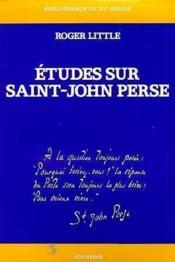 Études sur Saint-John Perse - Couverture - Format classique