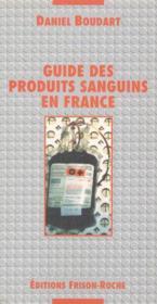 Guide produits sanguins - Couverture - Format classique