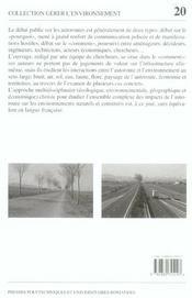 Autoroute Et Amenagement 20 - Interactions Avec L'Environnement - 4ème de couverture - Format classique