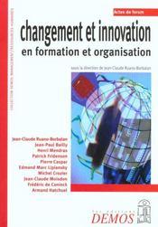 Changement Et Innovation En Formation Et Organisation - Intérieur - Format classique