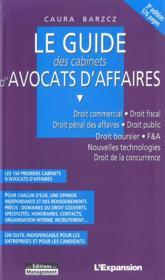 Guide Des Cabinets D'Avocats D'Affaires - Couverture - Format classique