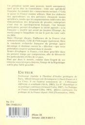 La France. Semblable Et Differente - 4ème de couverture - Format classique