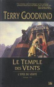 L'épée de vérité t.4 ; le temple des vents - Intérieur - Format classique