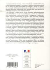 Les ingénieurs des télécommunications dans la France contemporaine ; réseaux, innovations et territoires (XIXe-XXe siècles) - 4ème de couverture - Format classique