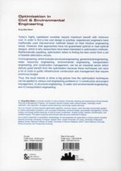 Optimization in civil and environmental engineering - 4ème de couverture - Format classique