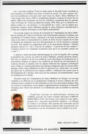 Un prophetisme japonais en afrique de l'ouest. anthropologie religieuse de sukyo mahikari (benin, co - 4ème de couverture - Format classique