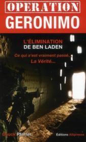 Opération Géronimo et l'élimination de Ben Laden - Couverture - Format classique