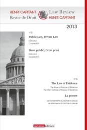 Vente livre :  REVUE DE DROIT HENRI CAPITANT N.5-6 ; public law, private law : distinction, cooperation ; droit public, droit privé : distincti  - Collectif