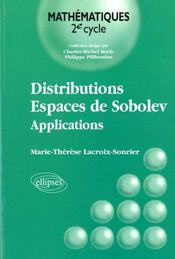Distributions Espaces De Sobolev Applications - Intérieur - Format classique