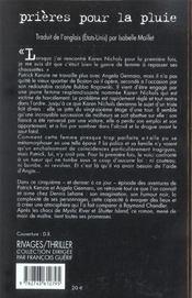 Prières pour la pluie - 4ème de couverture - Format classique