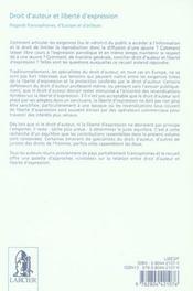 Droit d'auteur et liberté d'expression ; regards francophones, d'europe et d'ailleurs - 4ème de couverture - Format classique