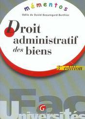 Memento Droit Administratif Des Biens 3e - Intérieur - Format classique