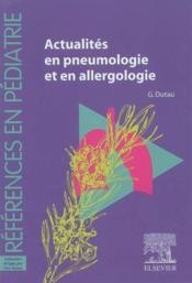 Actualites en pneumologie et allergologie - Couverture - Format classique